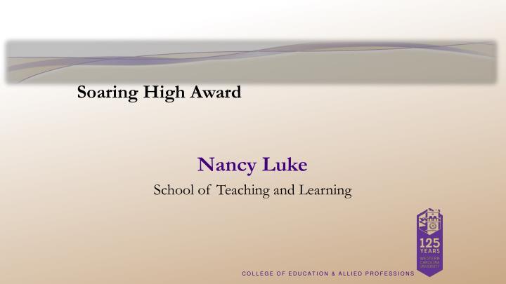 Soaring High Award