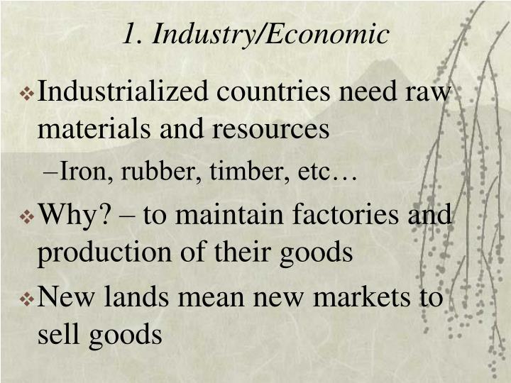 1. Industry/Economic
