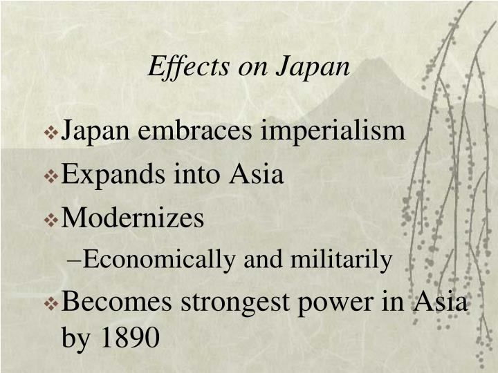 Effects on Japan