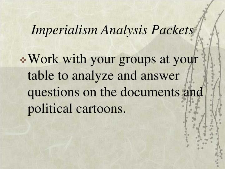 Imperialism Analysis Packets
