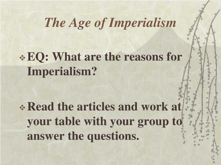 The age of imperialism1