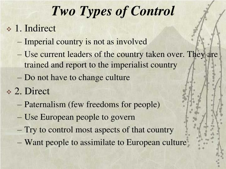 Two Types of Control