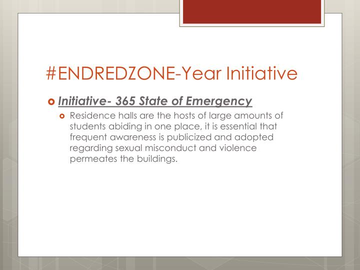 #ENDREDZONE-Year Initiative