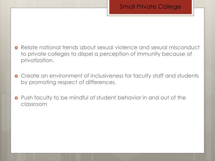 Small Private College