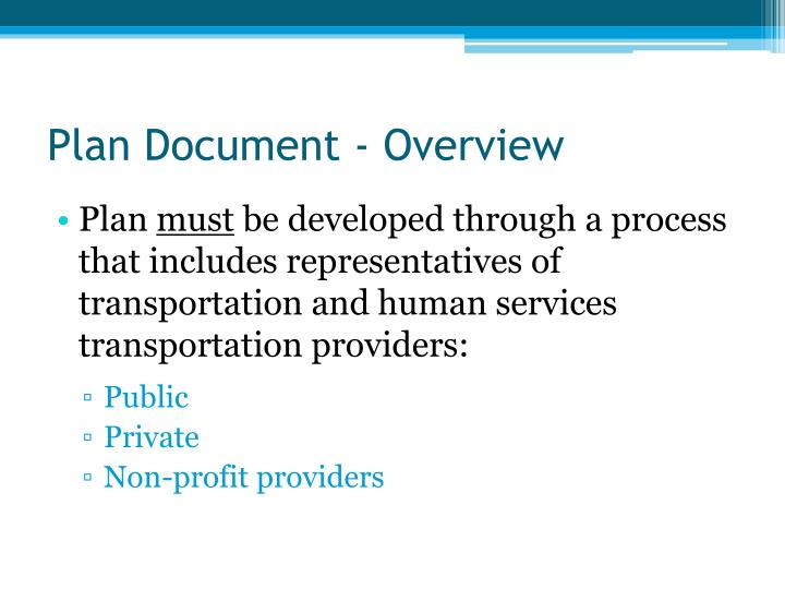 Plan Document - Overview