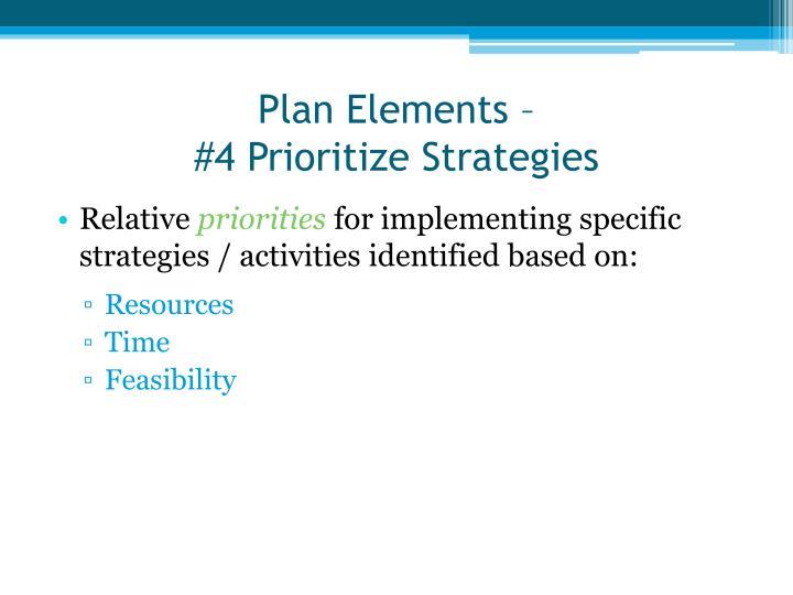 Plan Elements –