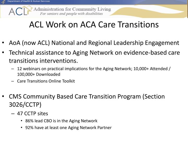 ACL Work on ACA Care Transitions