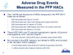 adverse drug events measured in the pfp hacs