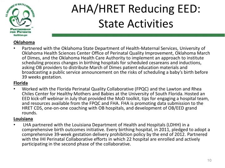 AHA/HRET Reducing EED: