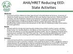 aha hret reducing eed state activities