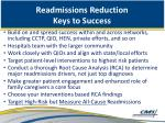 readmissions reduction keys to success