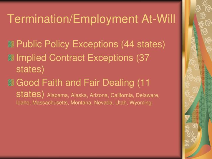 Termination/Employment At-Will