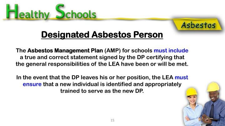 Designated Asbestos Person