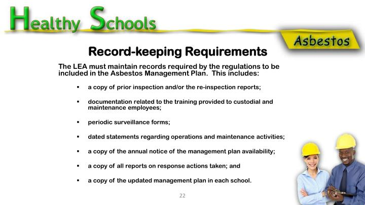 Record-keeping Requirements