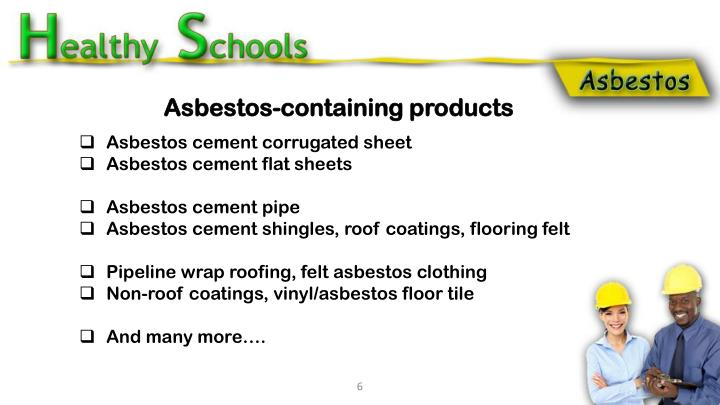 Asbestos-containing products
