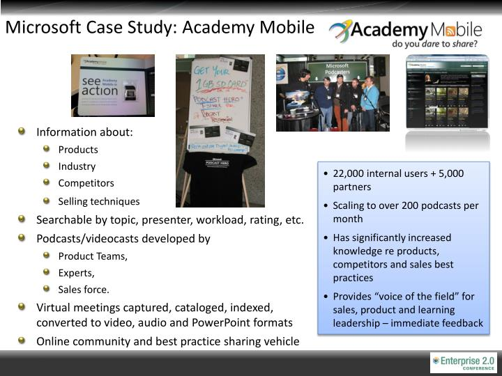 microsoft case study Microsoft sweden uses the 5 choices to extraordinary productivity as an integral part of training.