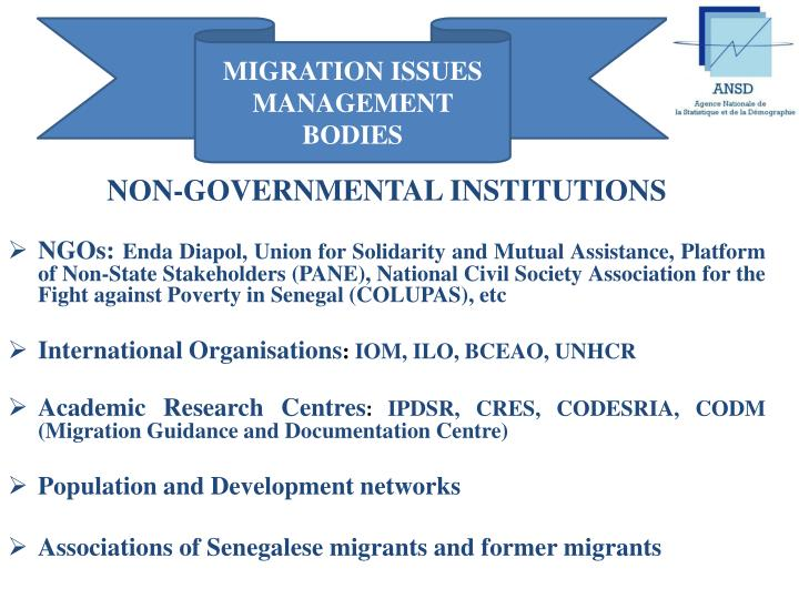 MIGRATION ISSUES MANAGEMENT BODIES