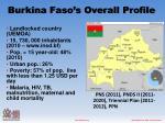 burkina faso s overall profile