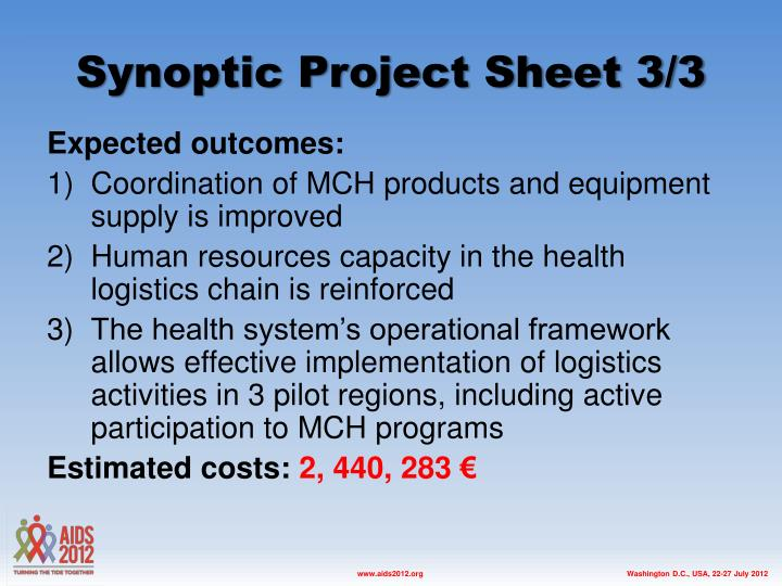 Synoptic Project Sheet 3/3