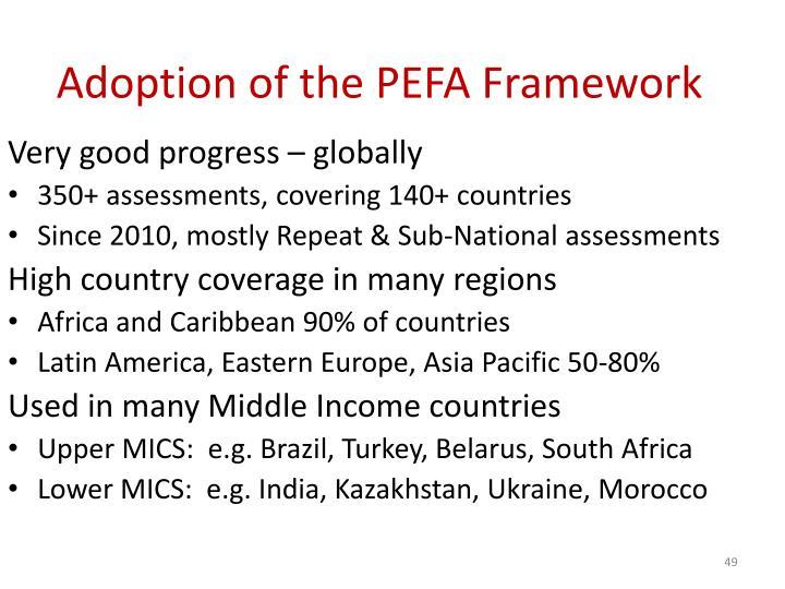 Adoption of the PEFA Framework