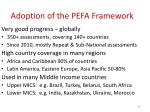 adoption of the pefa framework