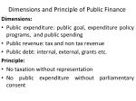 dimensions and principle of public finance