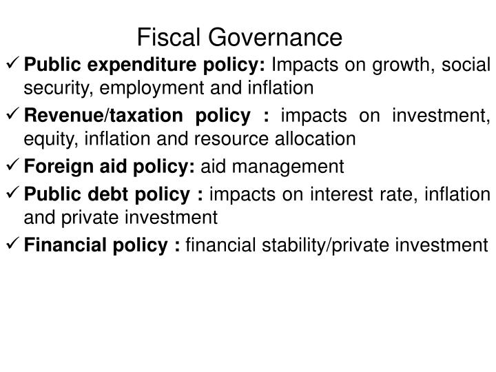 Fiscal Governance