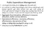 public expenditure management