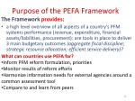 purpose of the pefa framework