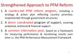 strengthened approach to pfm reform