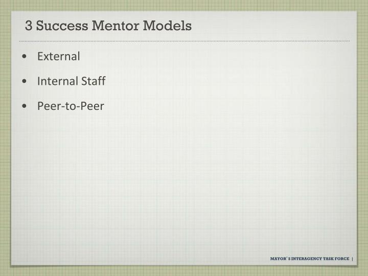 3 Success Mentor Models