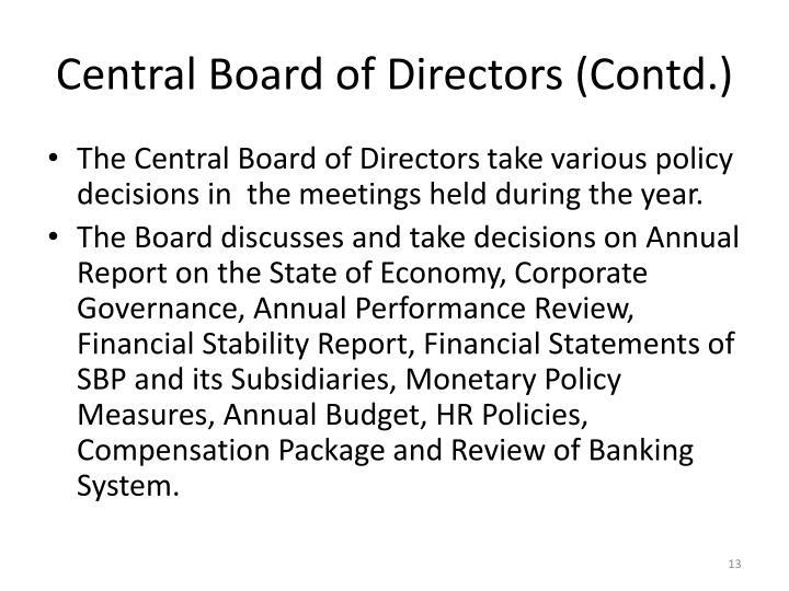 Central Board of Directors (Contd.)