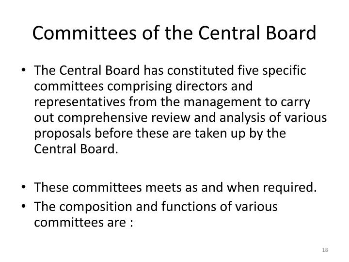 Committees of the Central