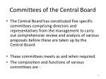 committees of the central board