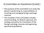 ii committee on investment contd
