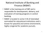 national institute of banking and finance nibaf
