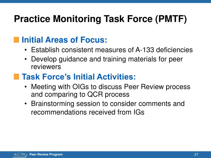 Practice Monitoring Task Force (PMTF)