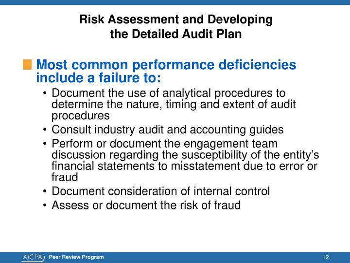 Risk Assessment and Developing