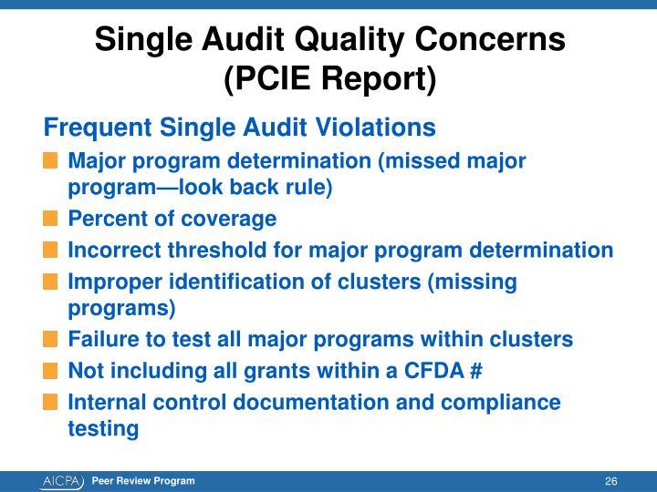 Single Audit Quality Concerns