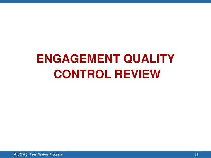 ENGAGEMENT QUALITY