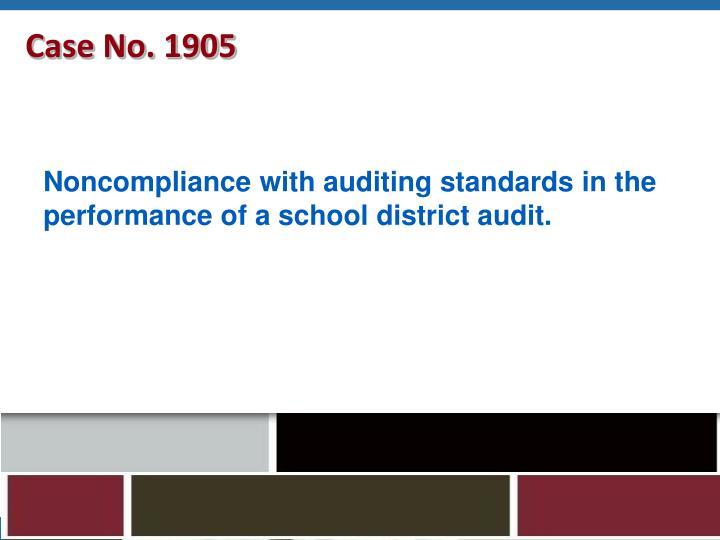 Case No. 1905