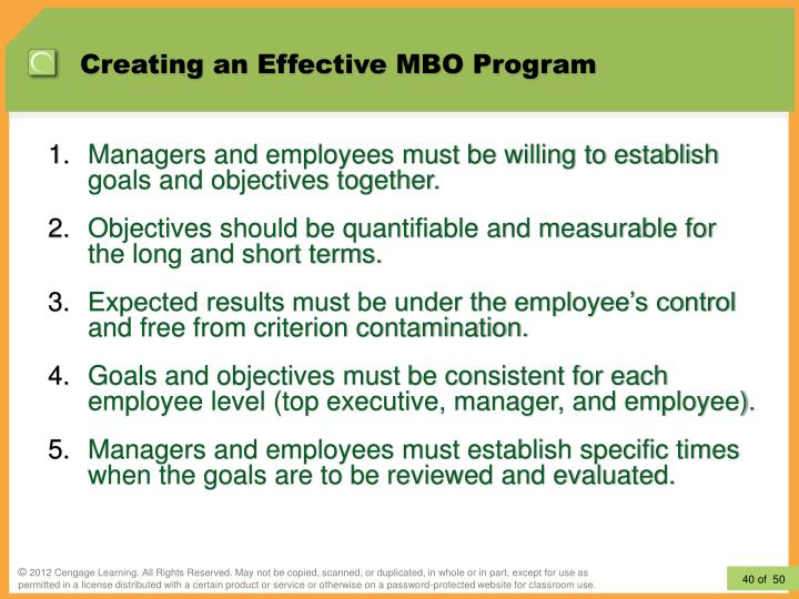 Creating an Effective MBO Program