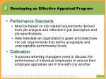 developing an effective appraisal program