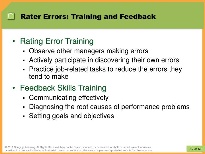 Rater Errors: Training and Feedback