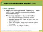 sources of performance appraisal cont