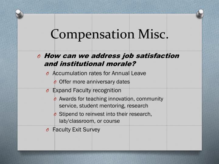 Compensation Misc.