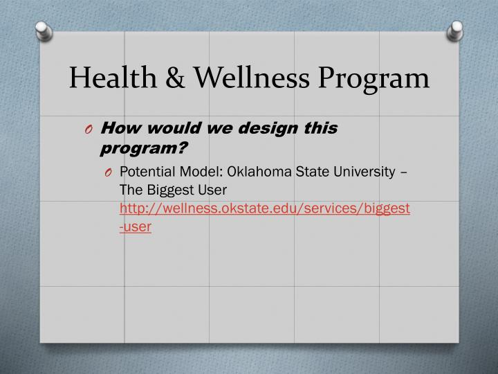 Health & Wellness Program