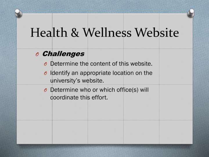 Health & Wellness Website