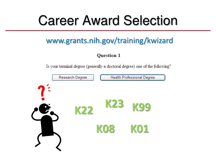 Career Award Selection