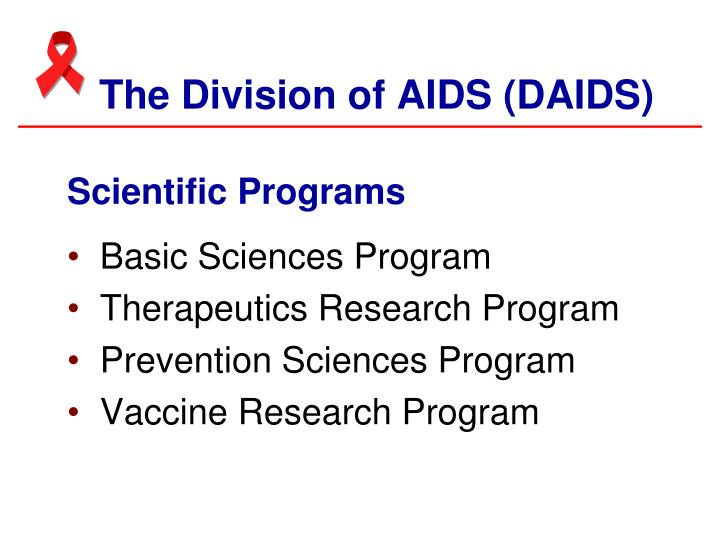 The Division of AIDS (DAIDS)